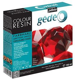 Gedeo Colour Resin Ruby/rød (150 ml)