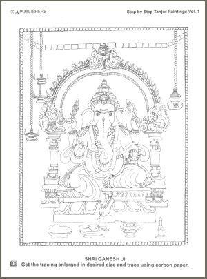 Tanjore Paintings, step-by-step, vol. 1