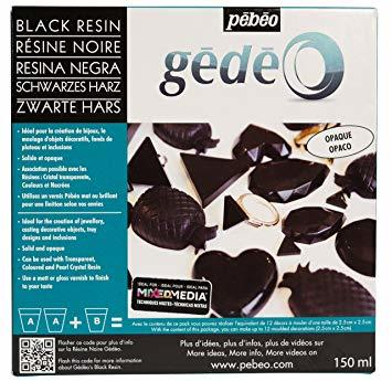 Gedeo Black Crystal Resin/sort  (150 ml)